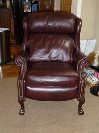 Bradington-Young leather wing back reclining chair