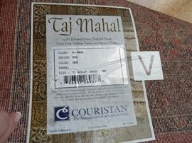"Taj Mahl 100% Wrosted New Zealand Wool 7'10""x10'2"" Couristan area rug"