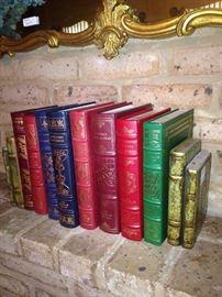 Leather bond books enhance any decor.