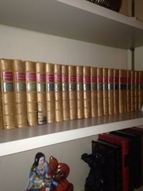 "Set of leather bound books -  ""Dickens Works"""