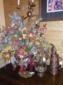 One of several floral arrangements