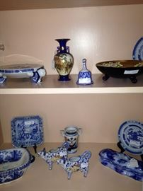 Variety of blue & white selections