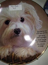 Precious dog plate