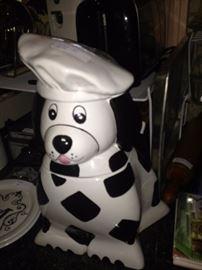 Chef dog cookie jar