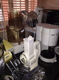 Some of the many small appliances