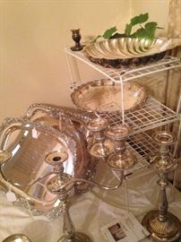 Gorgeous trays and candelabras
