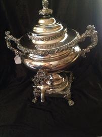 """Late Sheffield coffee urn, circa 1880"" (Gene Ruelle)"