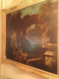 Impressive antique art (1 of 2 companion pictures) - artist unknown