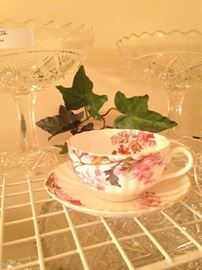 "Spode ""Chelsea Gardens"" fine bone china cup & saucer"