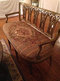 Antique settee (seat - as is)