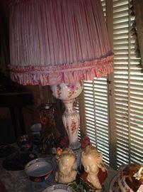 Elegant antique lamp