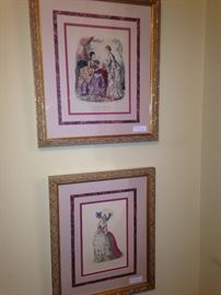 "Framed art of French print - ""La Mode Illustree"" (top picture)"