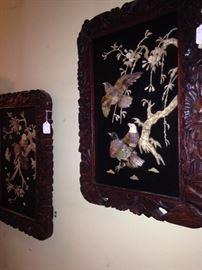 Intricately carved birds