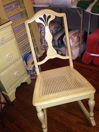 Small yellow antique rocker