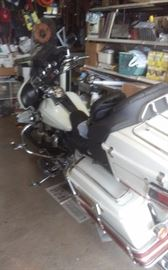 2003 HD Ultra Classic.  Lots of chrome, low mileage 100th Anniversary edition