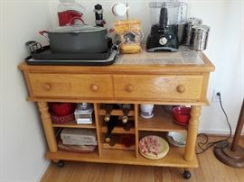 2 matching rolling buffets/sideboards