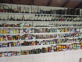INCREDIBLE LIFETIME COLLECTION OF OIL CANS AND OIL RELATED CONTAINERS ...