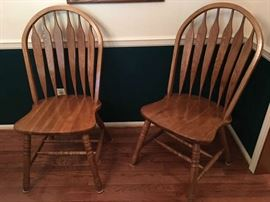 Two of the 8 Quality Chairs