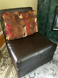 Armless Leather Couch