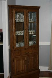 Corner China Cabinet with Light