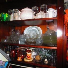 VASELINE GLASS/CRANBERRY DEPRESSION GLASS