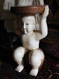 Vintage Chinese Figural Accent Table