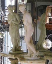 """Finely Carved Marble Sculpture (about 28"""" high)"""