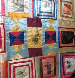 One of several crazy quilts (partial and complete to select from)