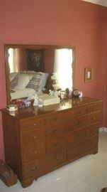 Ethan Allen dresser with large mirror- part of an Ethan Allen bedroom suite