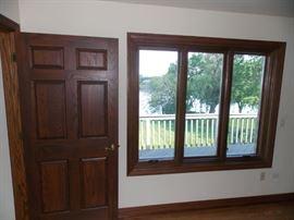 oak paneled door oak casement windows