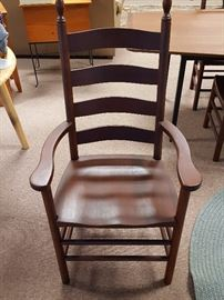 New - Set of six cherry ladder back chairs - 2 w/ arms