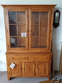 New - Nichols & Stone lighted china cabinet