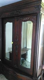 ANTIQUE  DOUBLE DOOR FRENCH ARMOIRE