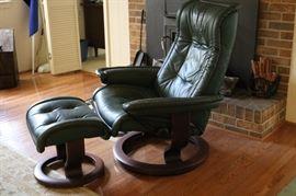 Vintage Ekornes Chair & Ottoman