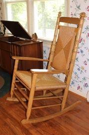 Cracker Barrel Woven Rocking Chair