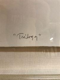"R.C. Gorman Signed ""Trilogy"" printer's proof"