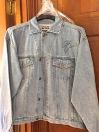 Autographed Alan Jackson Denim Jacket - never worn