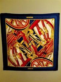 Vintage rare hermes silk scarf 1970's Rythmes by Cathy Latham Amazing