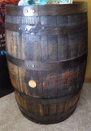 closer look at old whiskey barrel