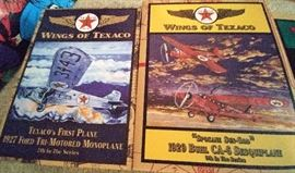 "1920's ""Wings of Texaco"" planes     LIVING ROOM"
