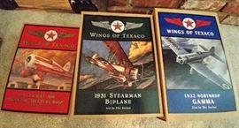 "1930's ""Wings of Texaco"" planes    LIVING ROOM"