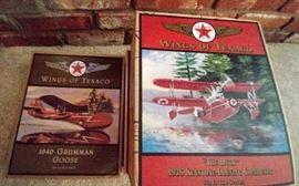 """Wings of Texaco"" planes     LIVING ROOM"