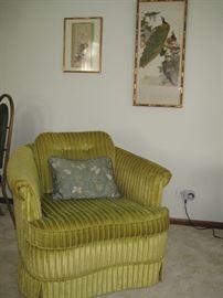 Corduroy side chair