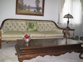 Vintage sofa, End tables