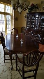 Walnut Dining Table & Chairs
