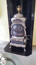Antique Art Garland Gas Burning Parlor Stove