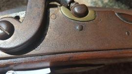 Antique N. Haven Flint Lock Rifle