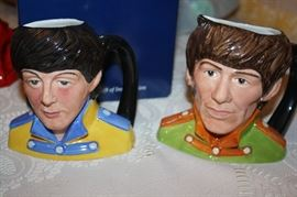 ROYAL DOULTON ~ FAB FOUR ~ BEATLE MUGS ~ 1984