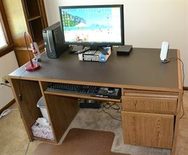 Executive-Size Desk. Computer System Not Included.