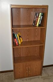 Bookshelf or Display Fixture with Storage Below. Books Not Included.